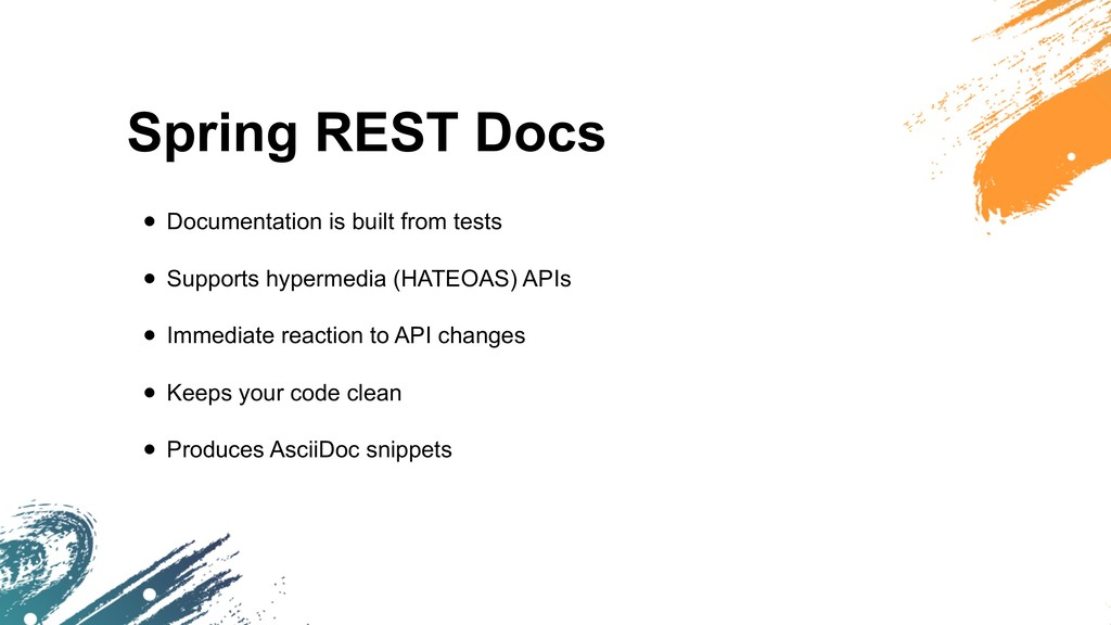 Spring REST Docs • Documentation is built from ...