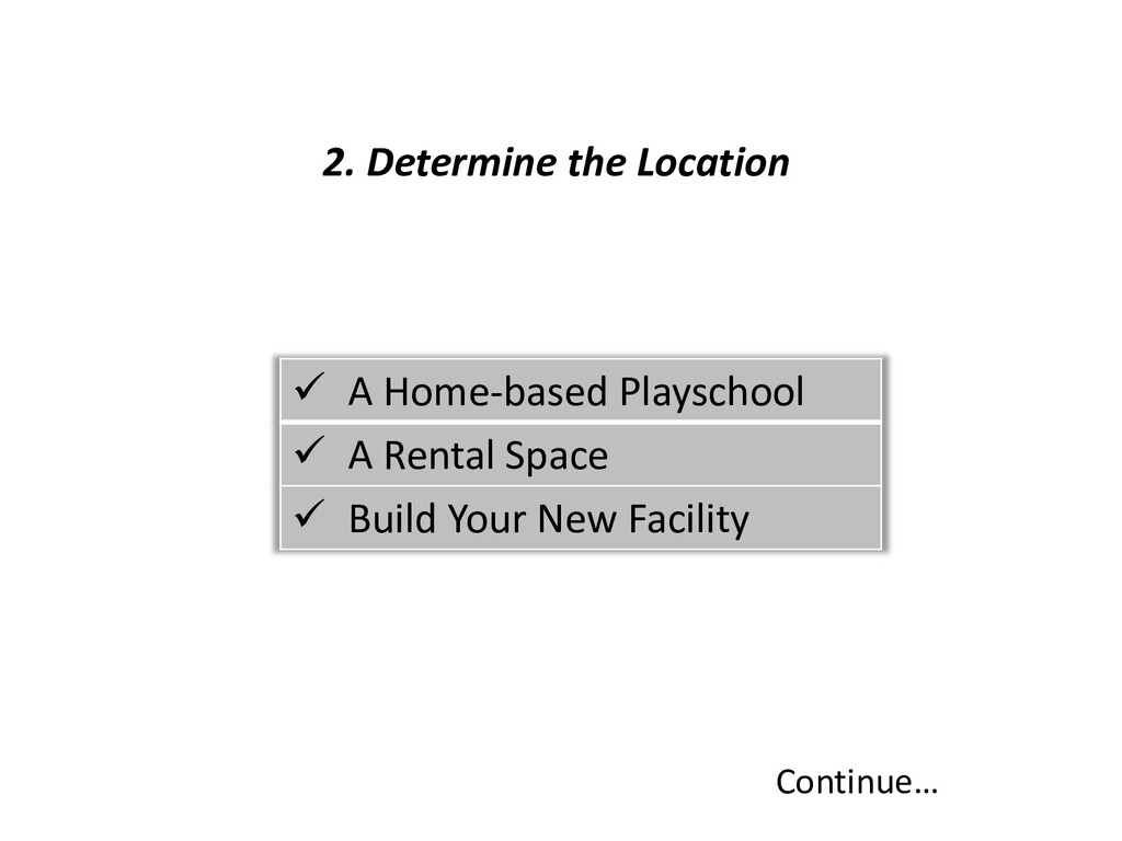 2. Determine the Location Continue…  A Home-ba...