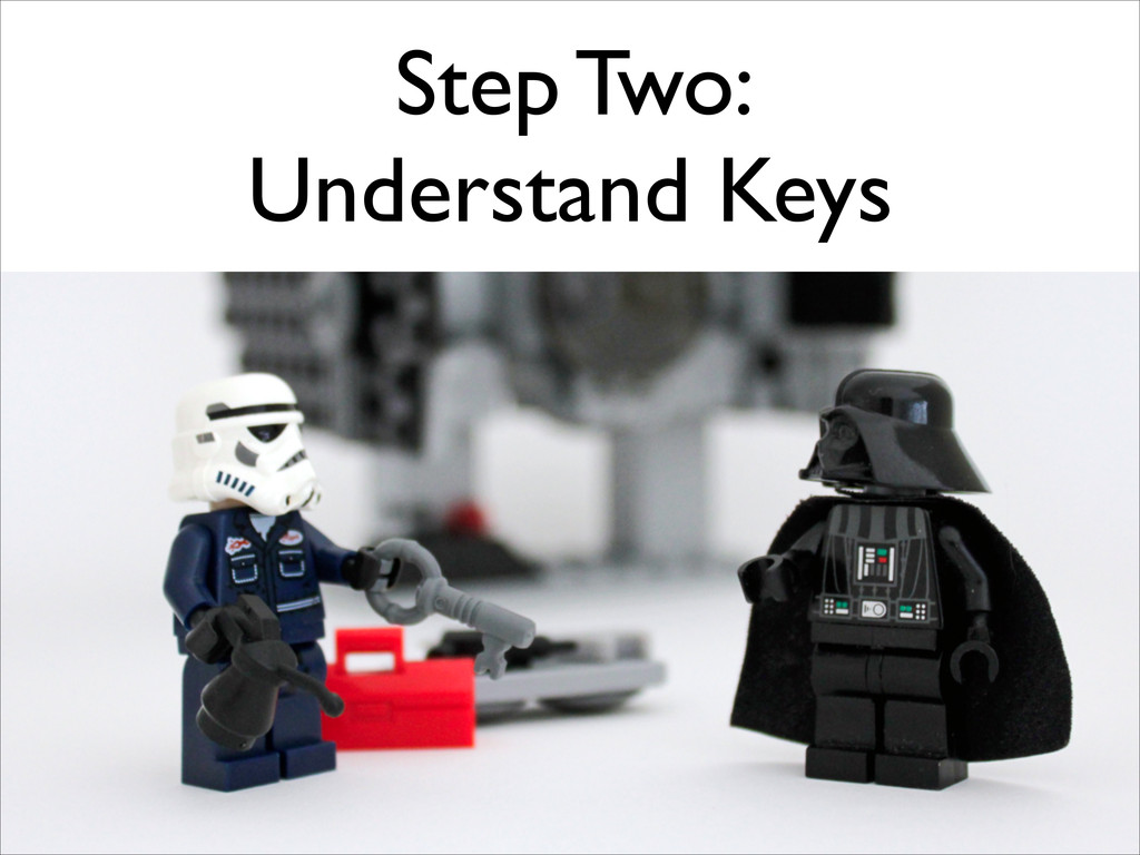 Step Two:  Understand Keys