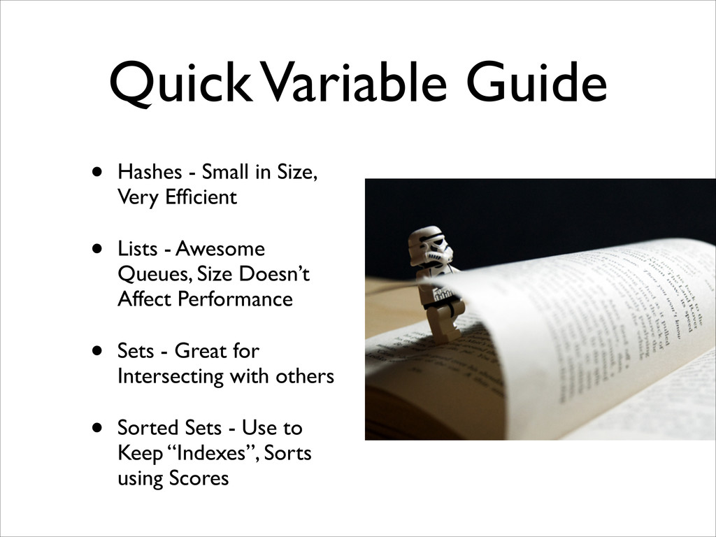 Quick Variable Guide • Hashes - Small in Size, ...
