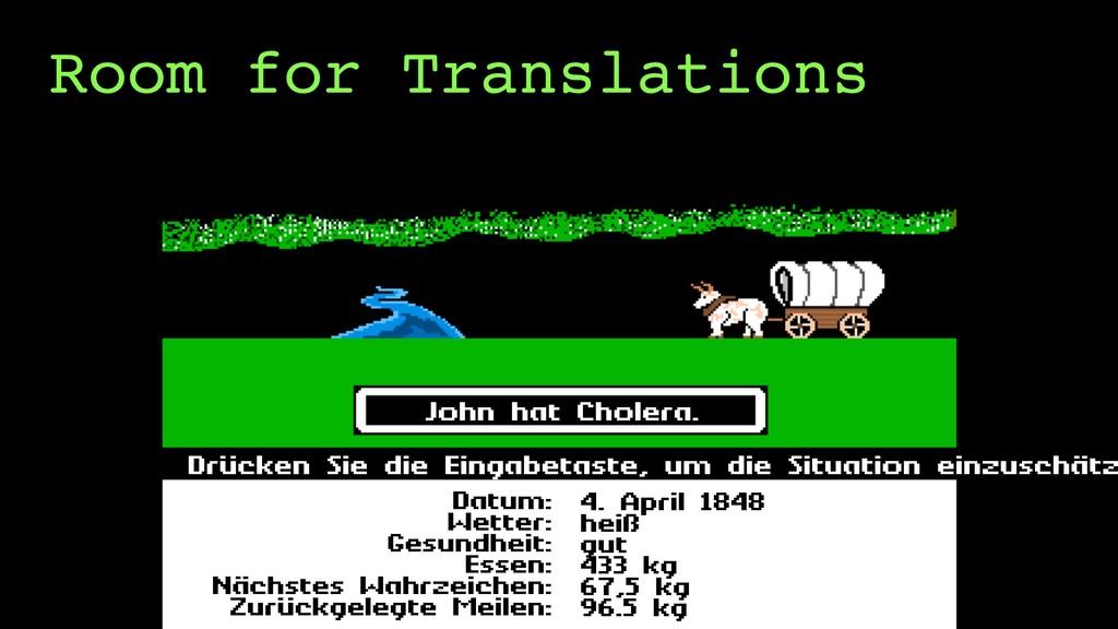 Room for Translations Drücken Sie die Eingabeta...