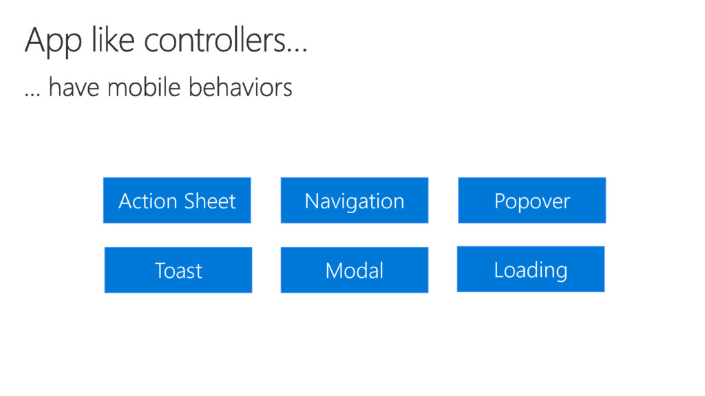 Action Sheet Toast Popover Navigation Modal Loa...