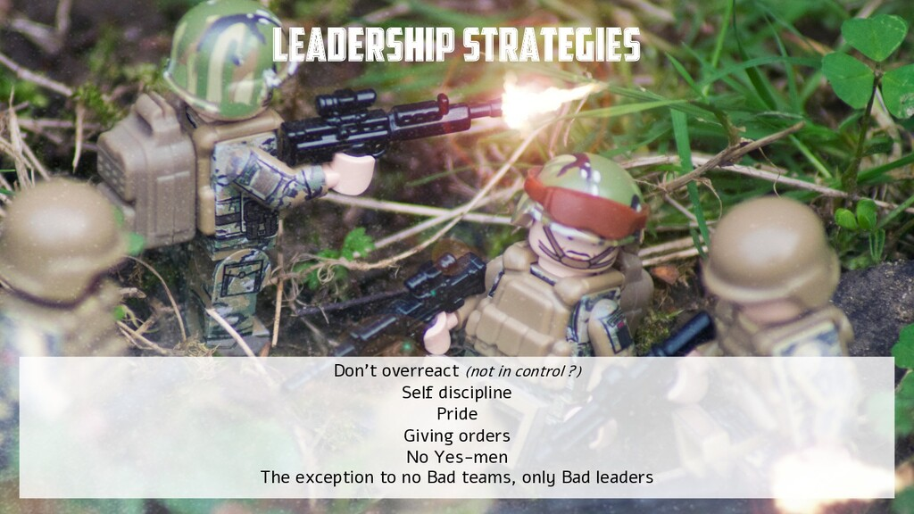 @yot88 Leadership strategies Don't overreact (n...
