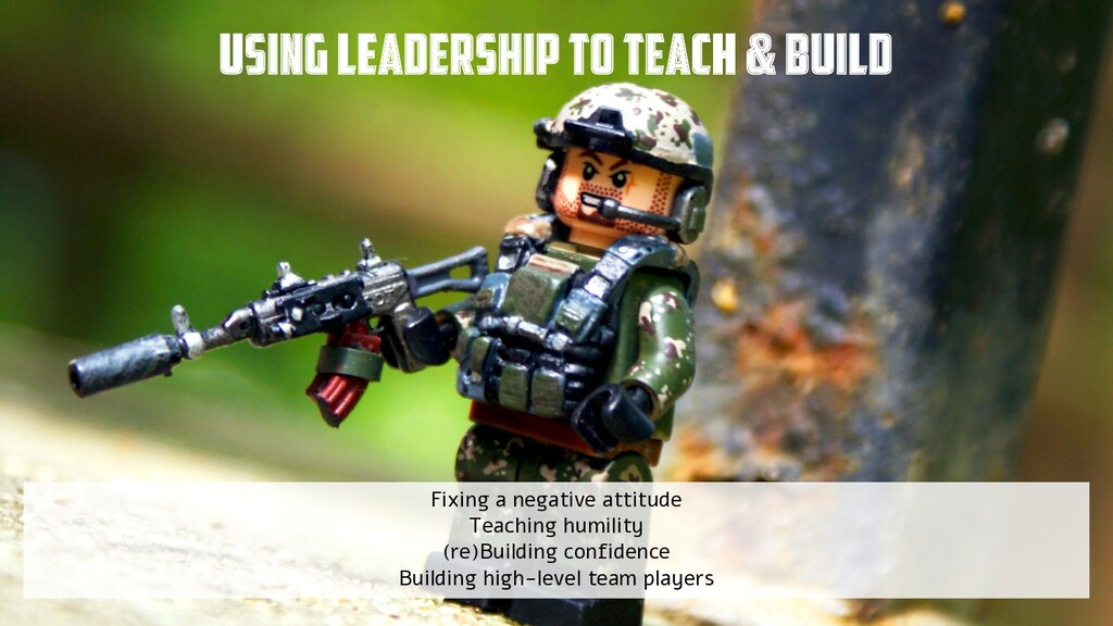 @yot88 Using LEADERSHIP to teach & build Fixing...