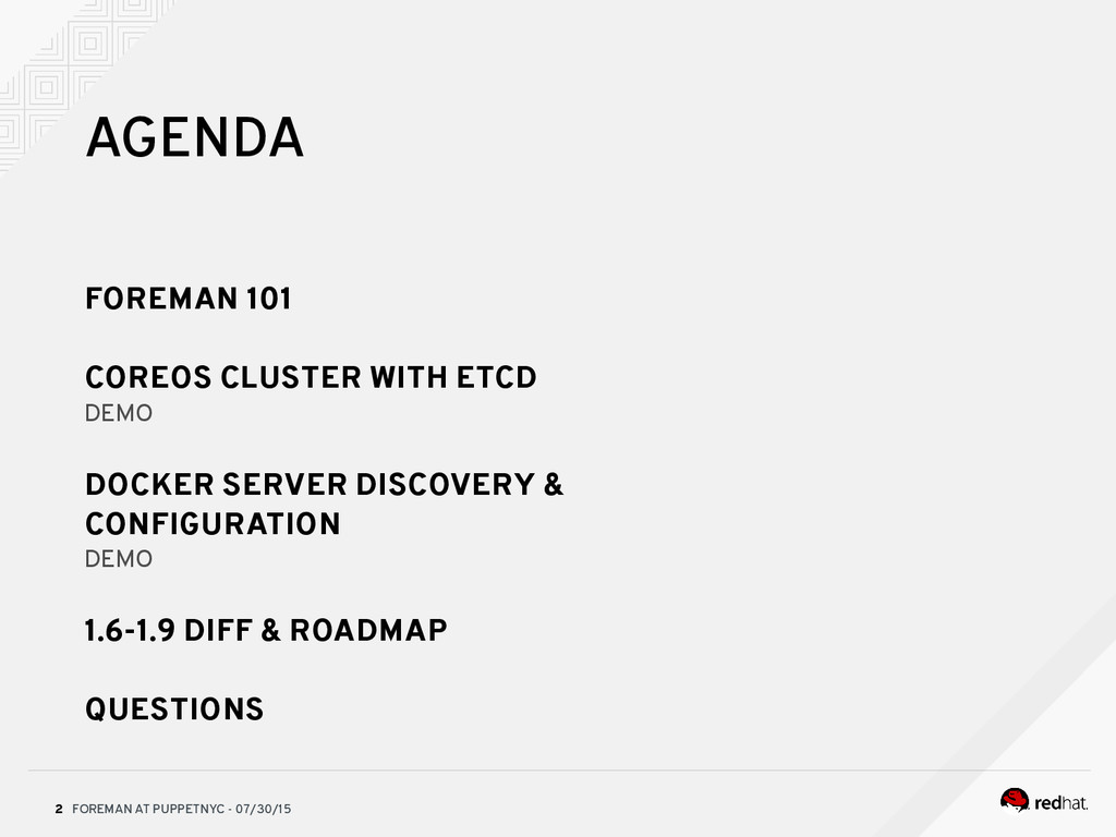 FOREMAN AT PUPPETNYC - 07/30/15 2 AGENDA FOREMA...