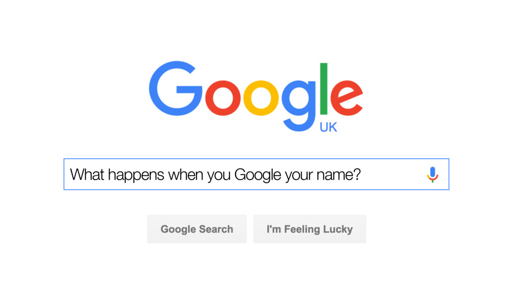 What happens when you Google your name?