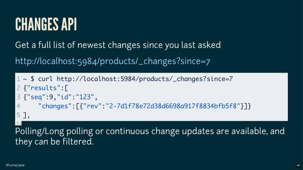 @lornajane CHANGES API Get a full list of newes...