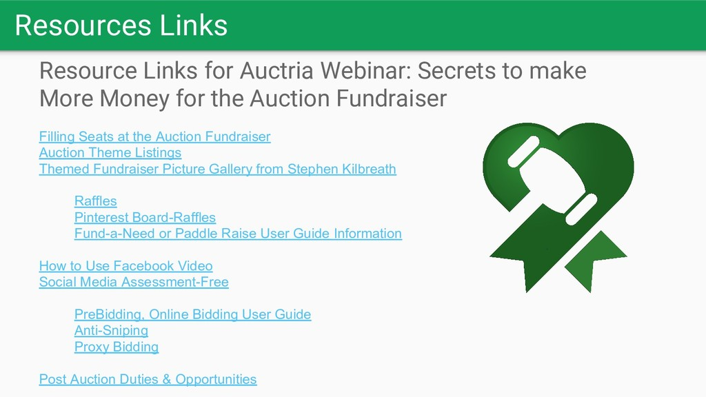 Resources Links Resource Links for Auctria Webi...