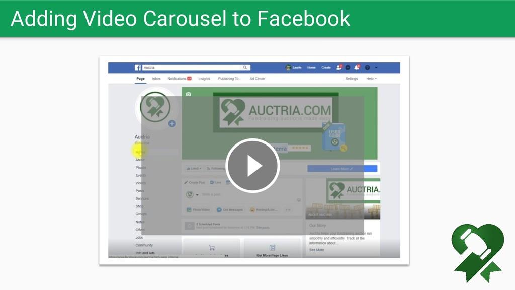 Adding Video Carousel to Facebook