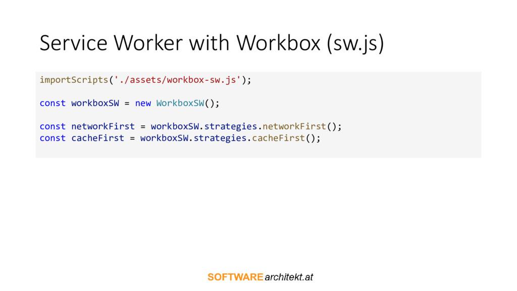 Service Worker with Workbox (sw.js) importScrip...