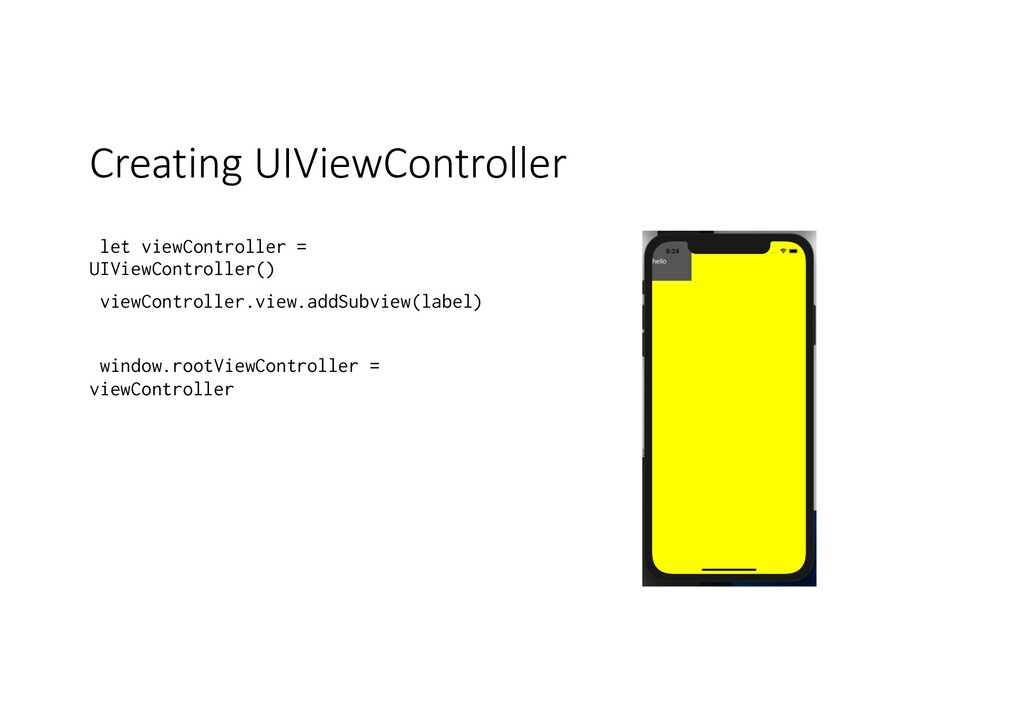 Creating UIViewController let viewController = ...