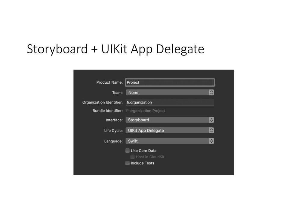 Storyboard + UIKit App Delegate
