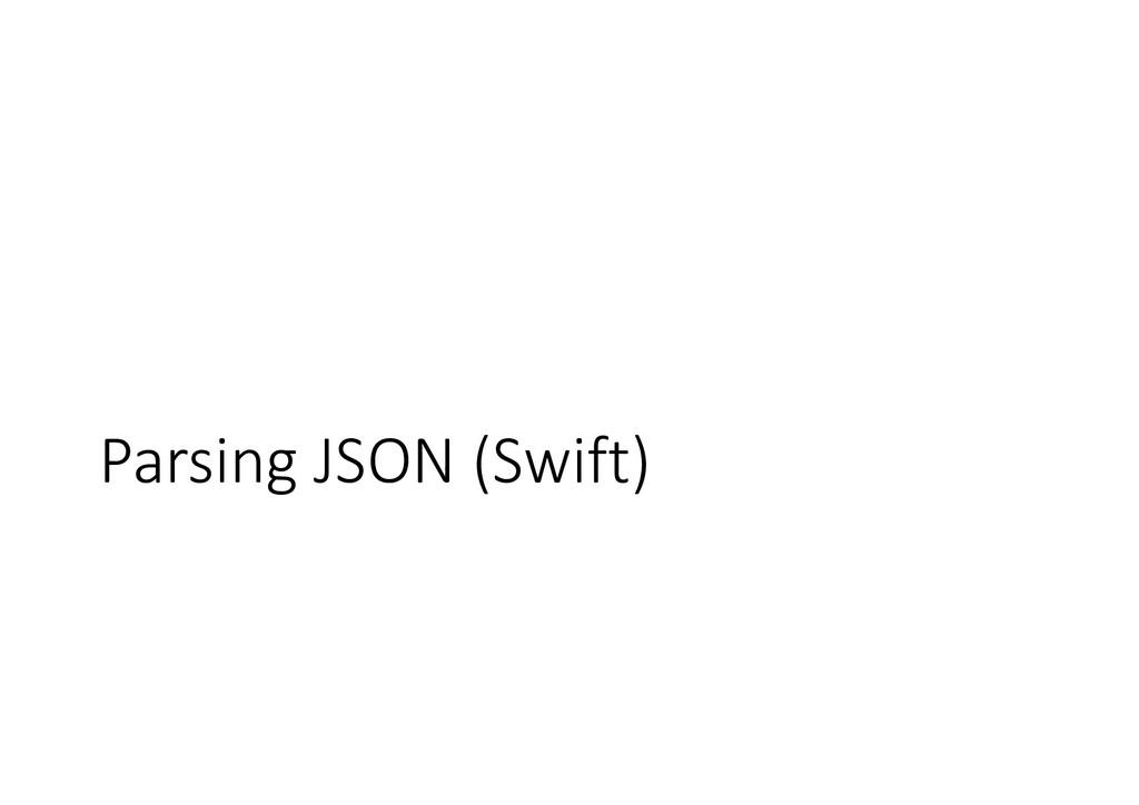 Parsing JSON (Swift)