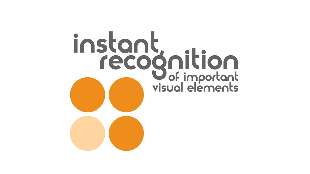 recognition instant of important visual elements