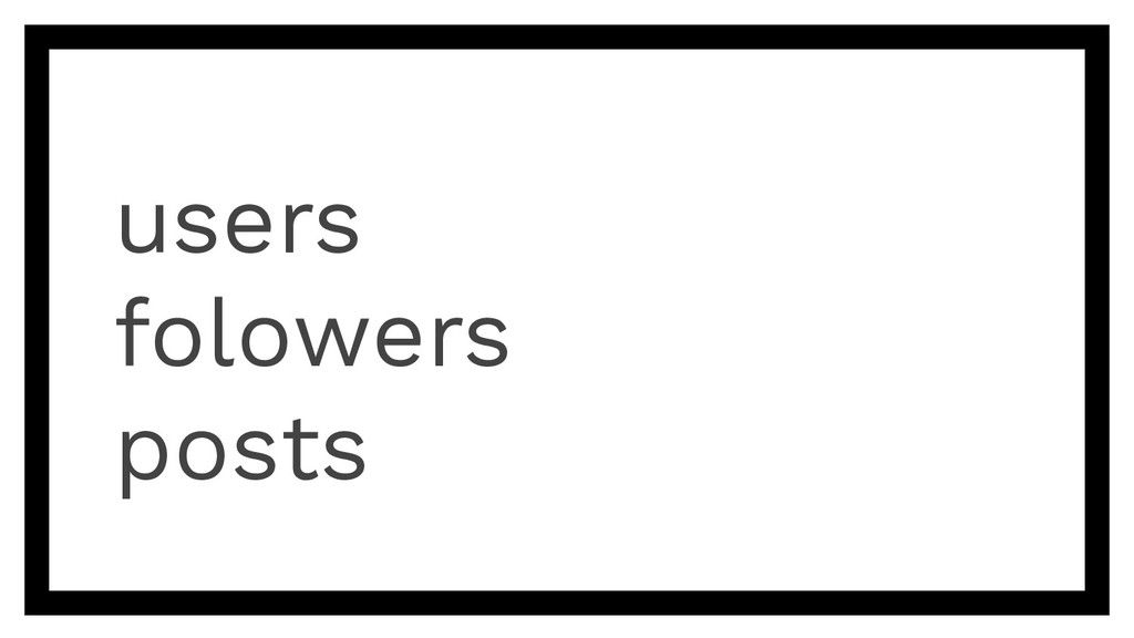 users folowers posts
