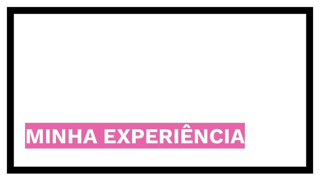 MINHA EXPERIÊNCIA