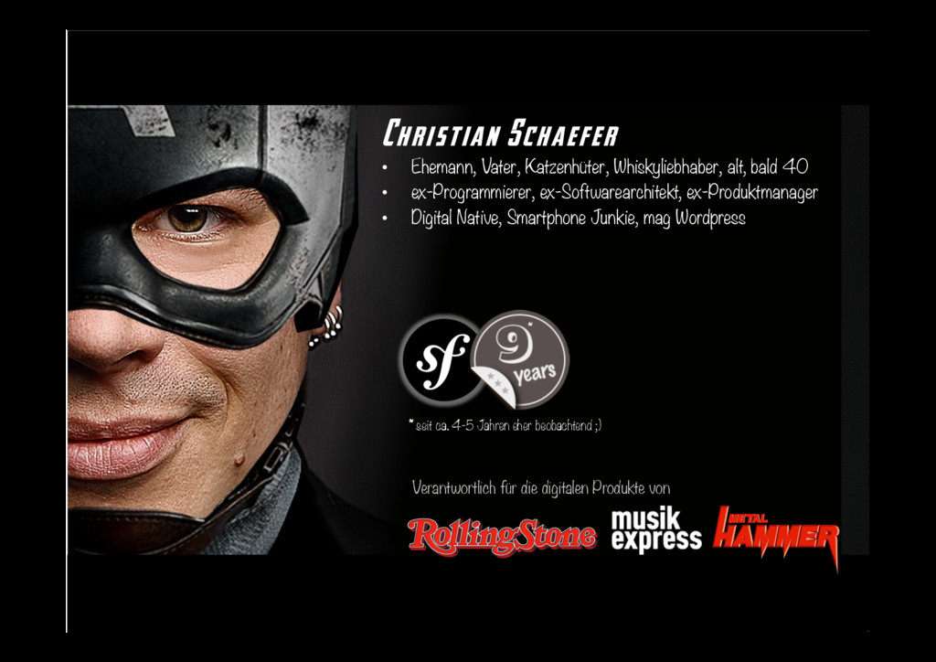 Christian Schaefer • Ehemann, Vater, Katzenhüt...