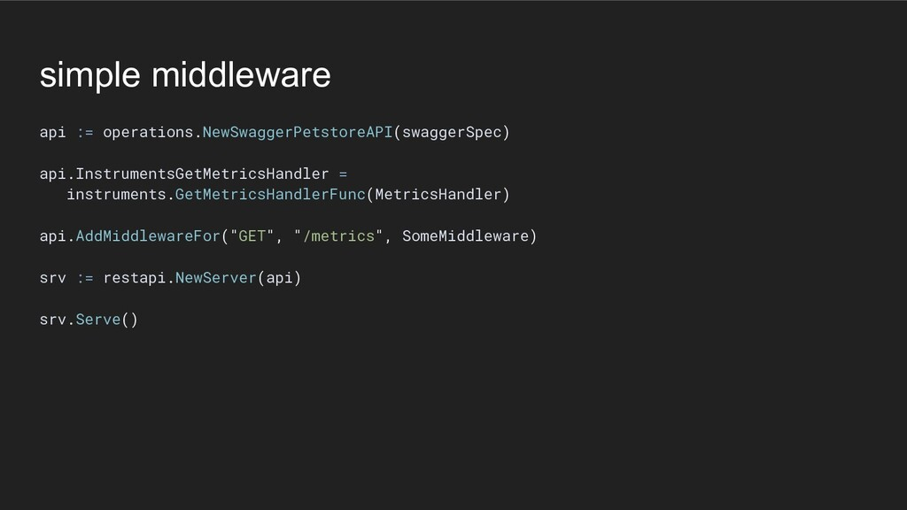 simple middleware api := operations.NewSwaggerP...