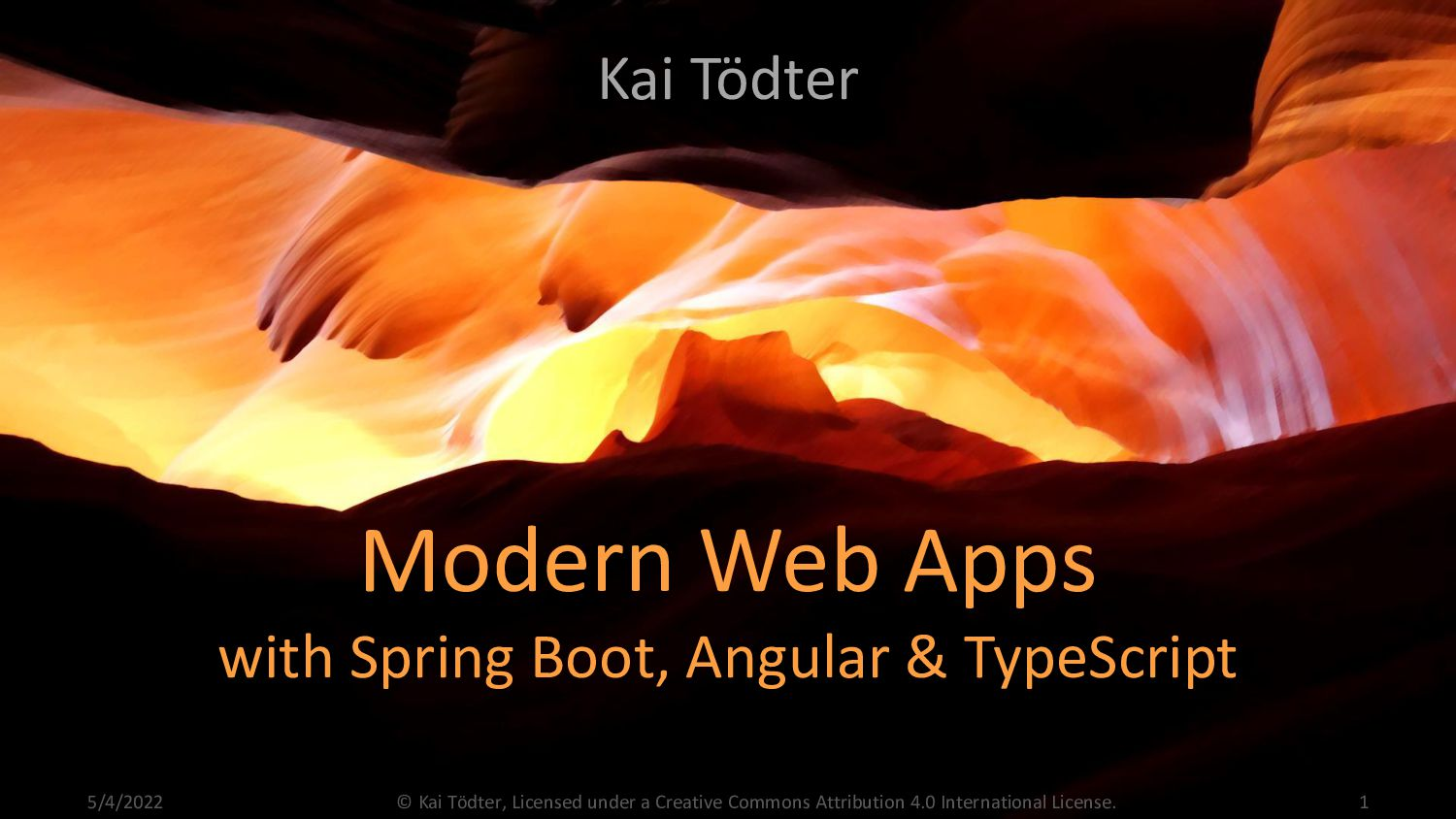 Modern Web Apps with Spring Boot, Angular & Typ...