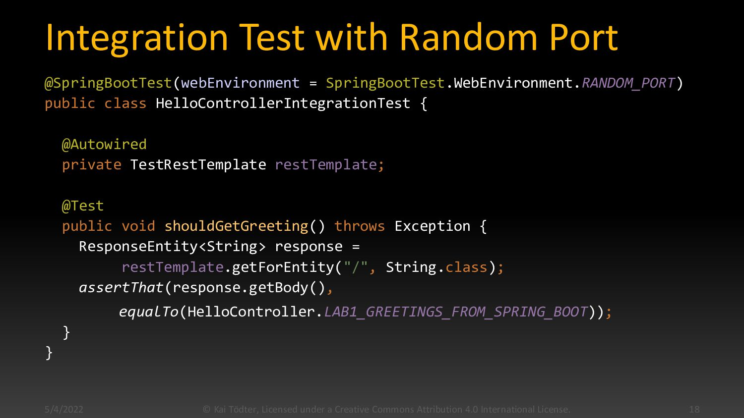 Controller Test with MockMVC @WebMvcTest(HelloC...