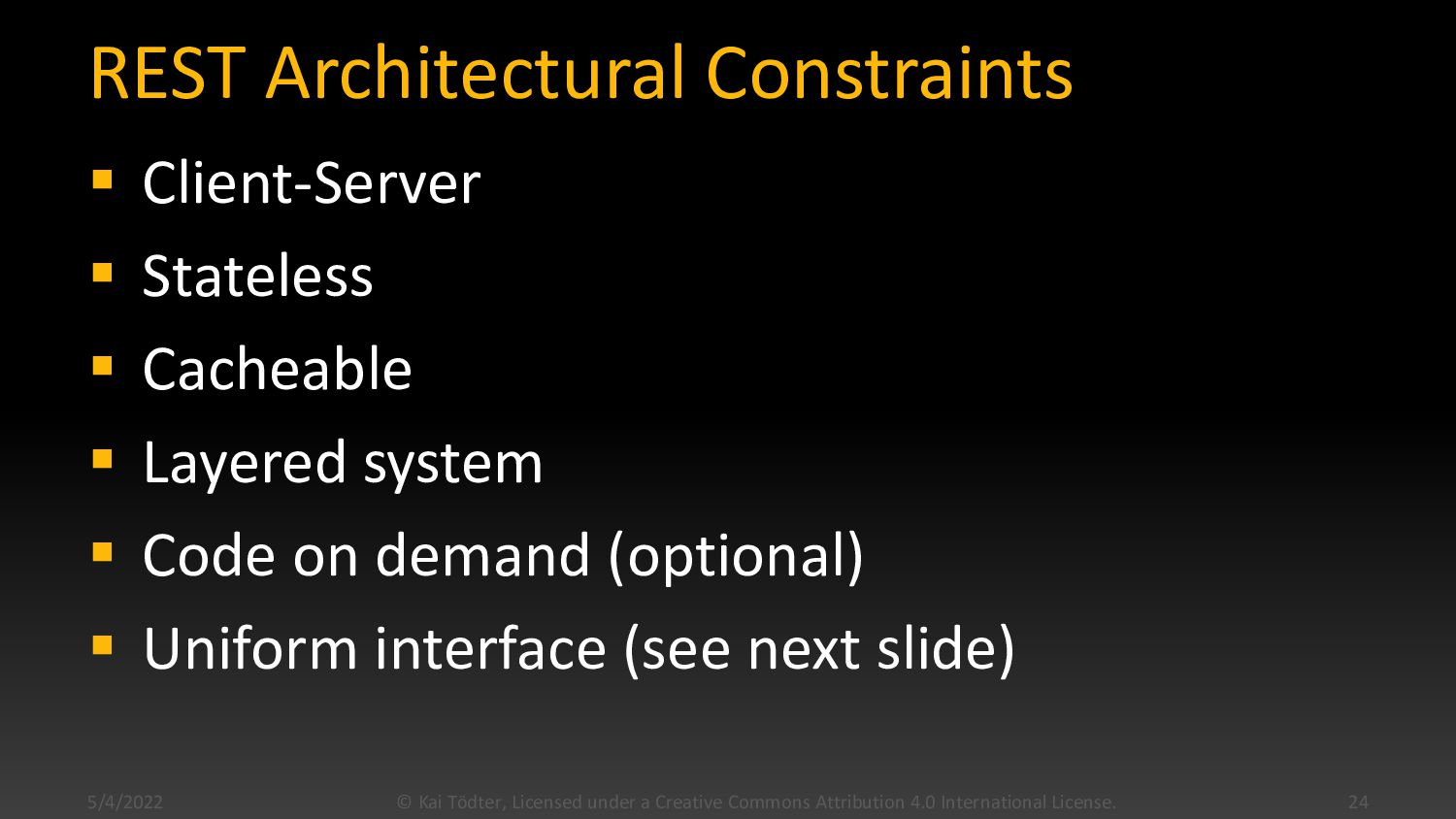 What is REST?  Stands for Representational Sta...