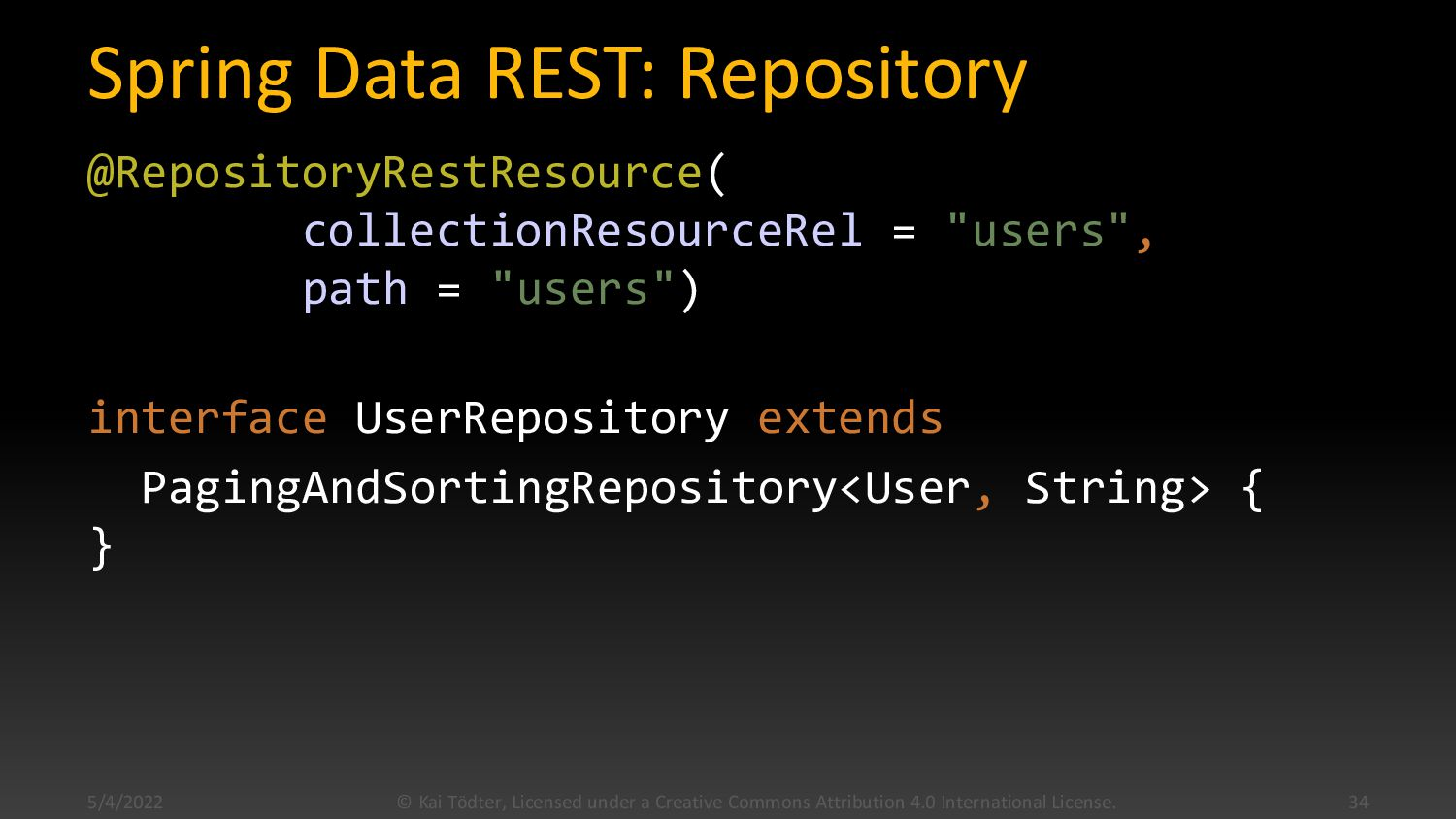 Spring Data Rest: Domain @Data @Entity @NoArgsC...