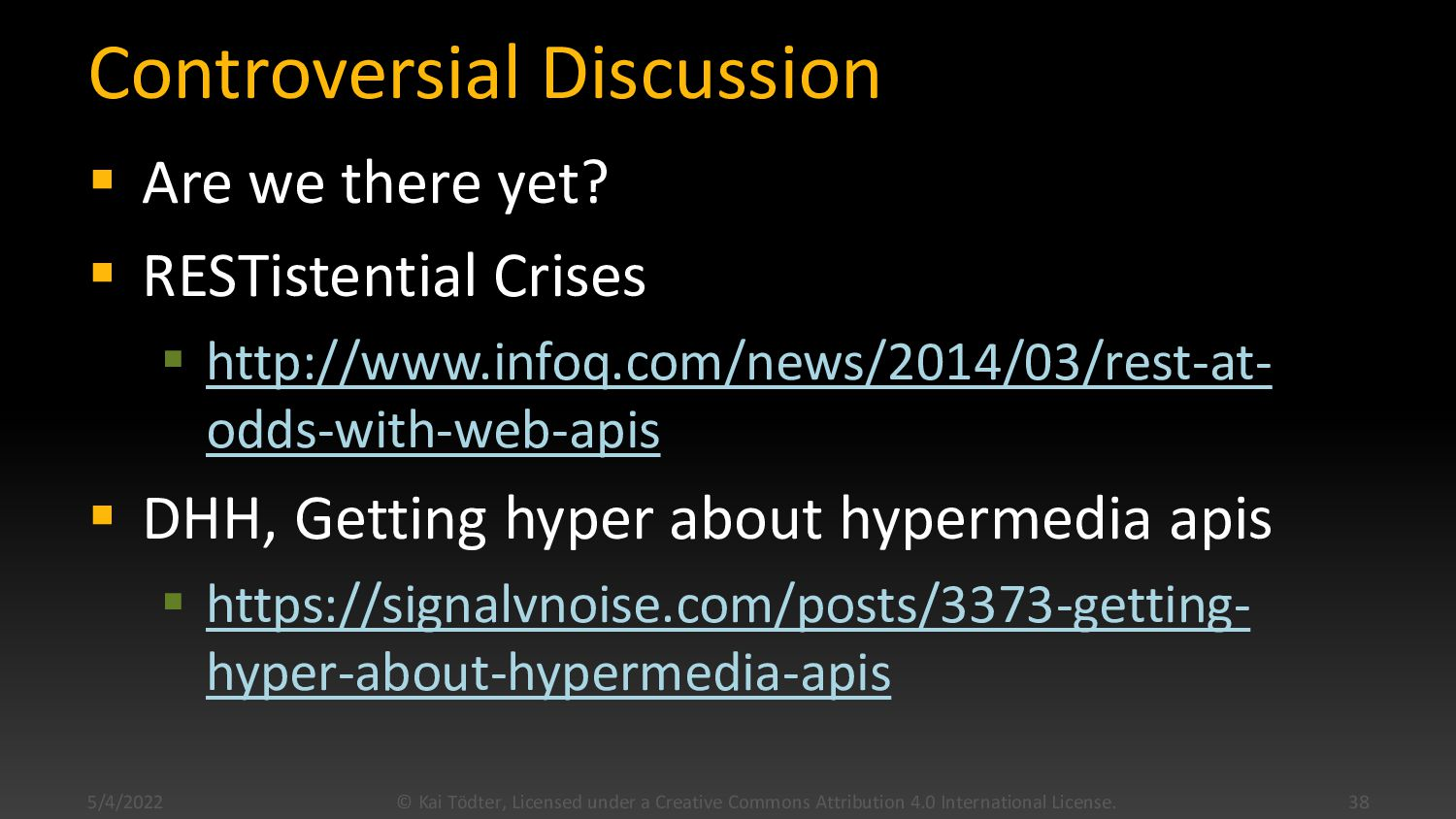 Robust Clients  Start from main API  Find lin...