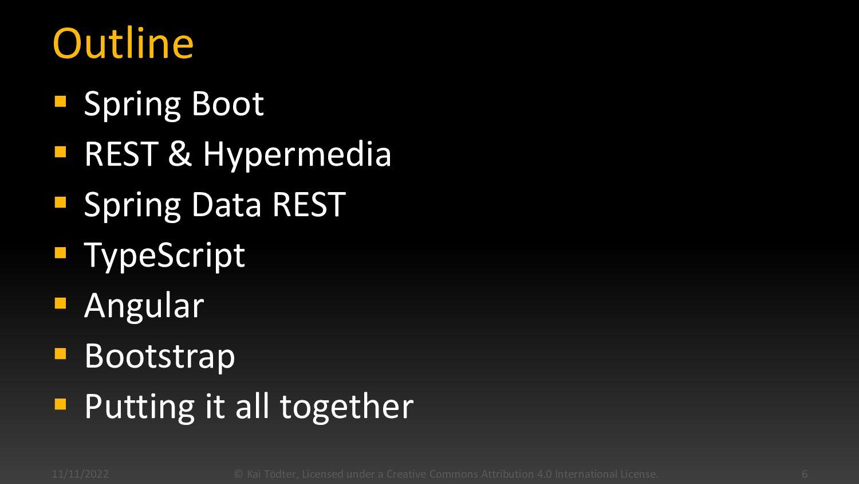 Outline  Spring Boot  REST & Hypermedia  Spr...