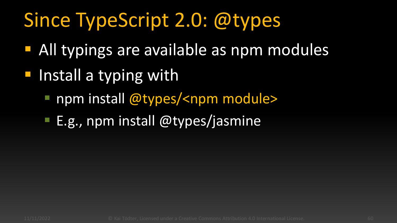 Jasmine Example describe('User', () => { it('sh...