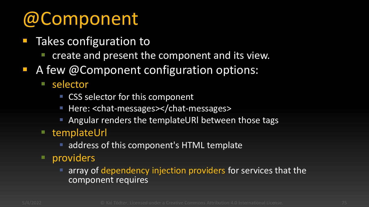 Components  A component controls a view  In o...