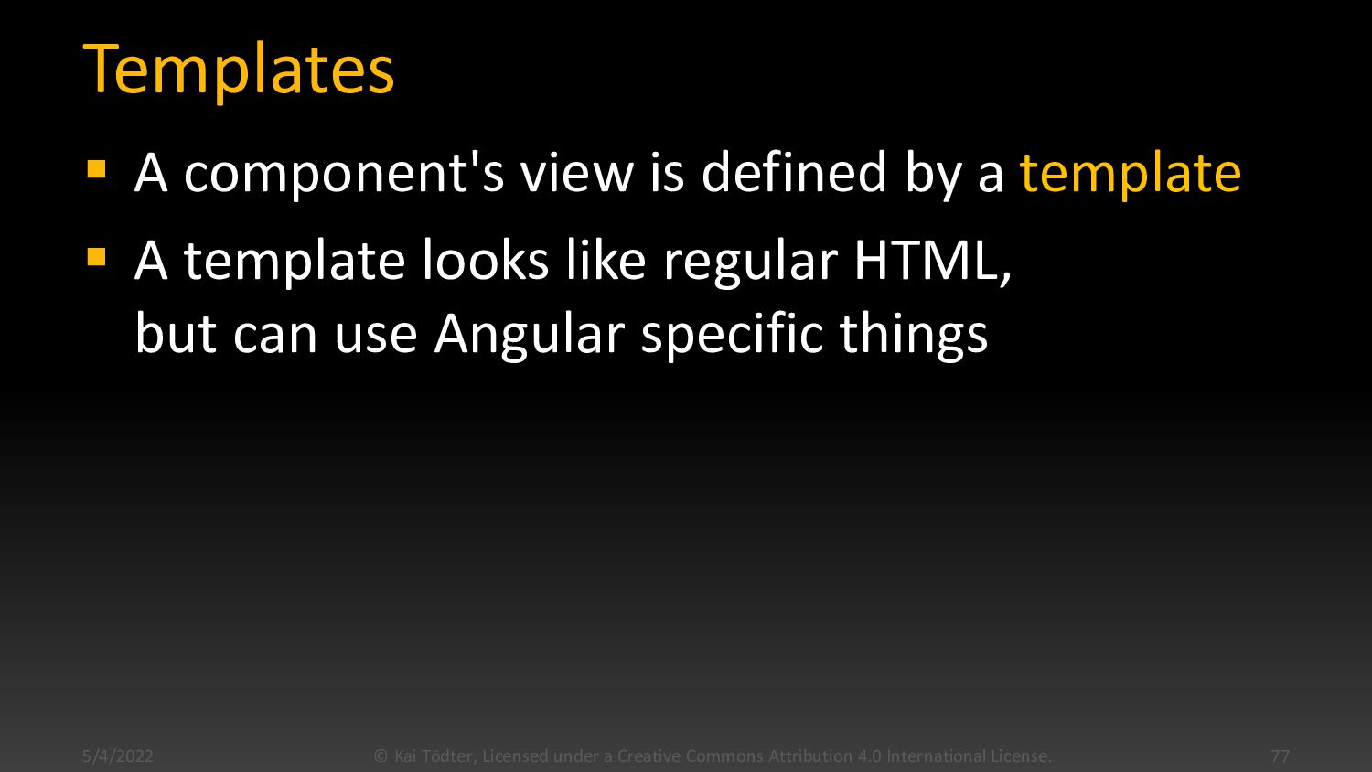 Component Example import {Component} from '@ang...