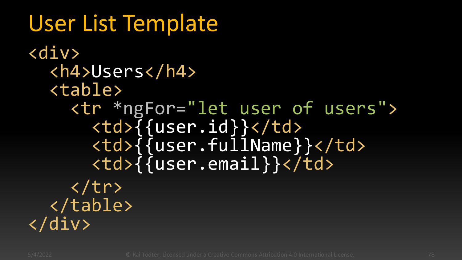 Templates  A component's view is defined by a ...