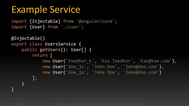 Services  Are POTOs (Plain Ole Typescript Obje...