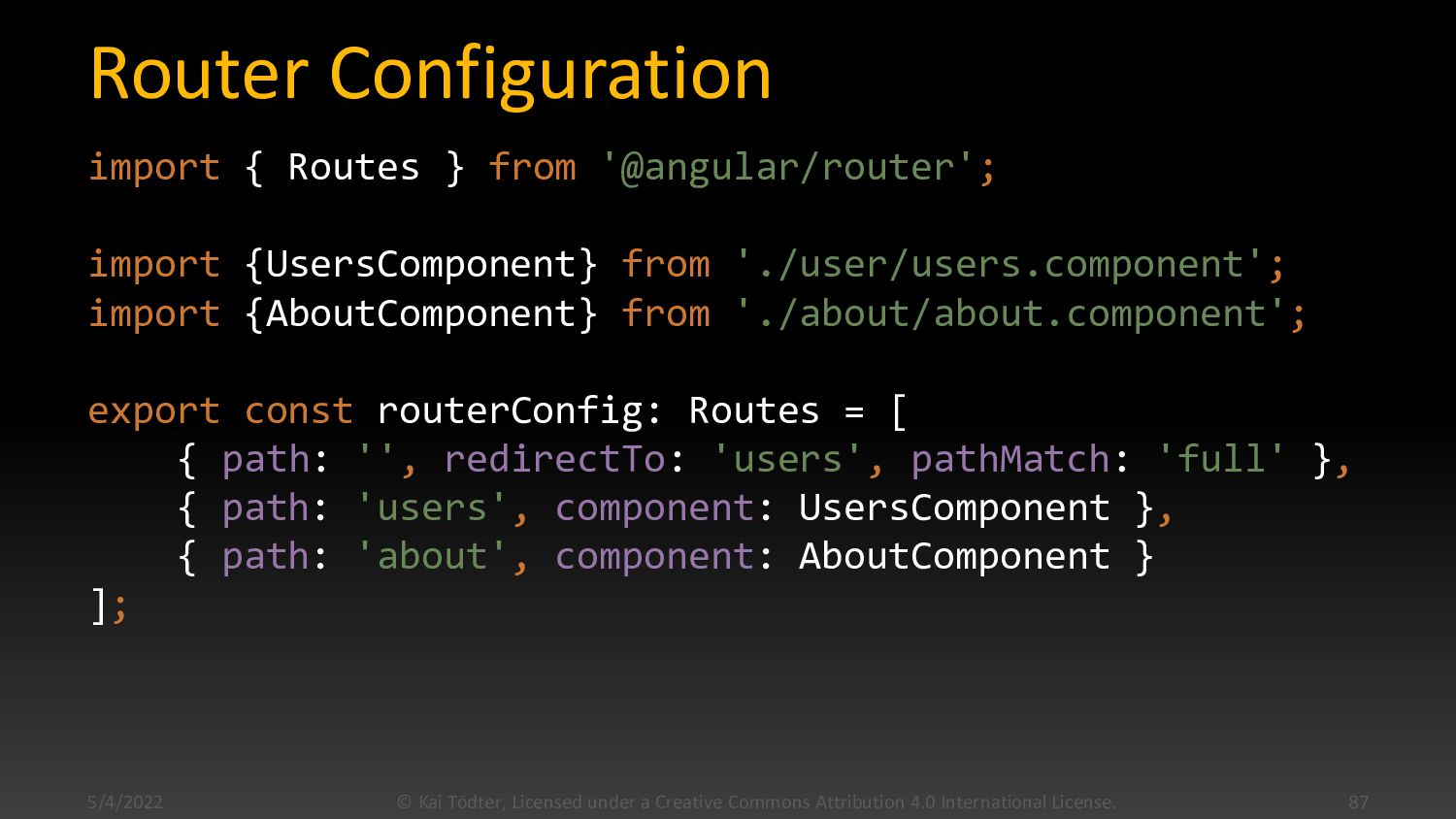 Routing  Tell the router how to compose naviga...