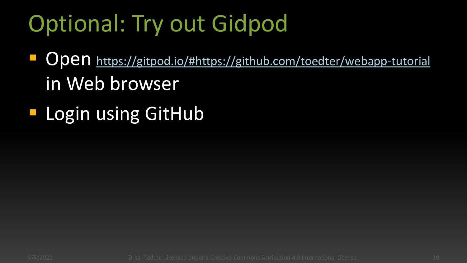 Lab 0: Build all tutorial labs locally  Instal...
