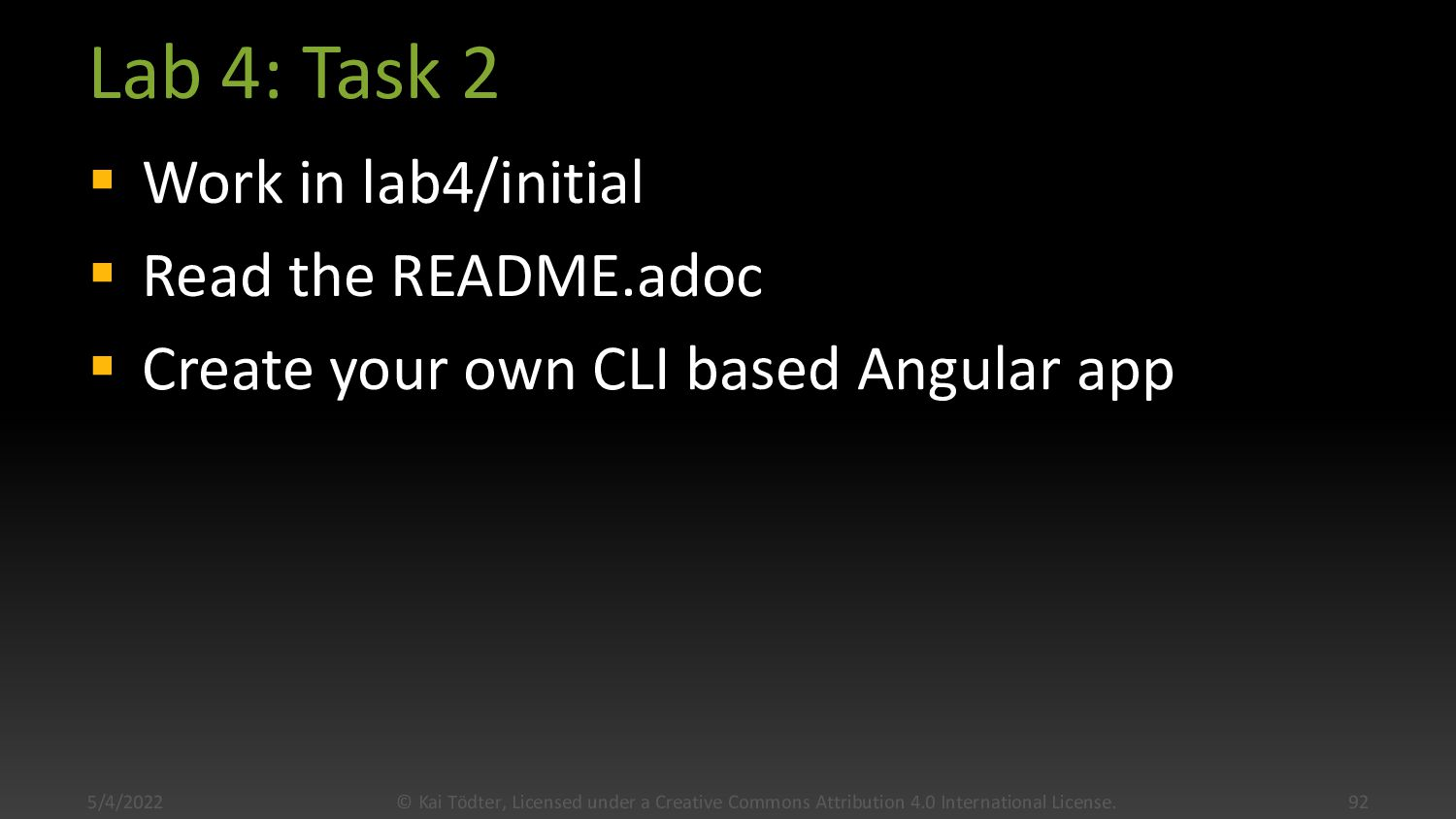 Lab 4: Task 1  Open terminal in lab4/complete ...