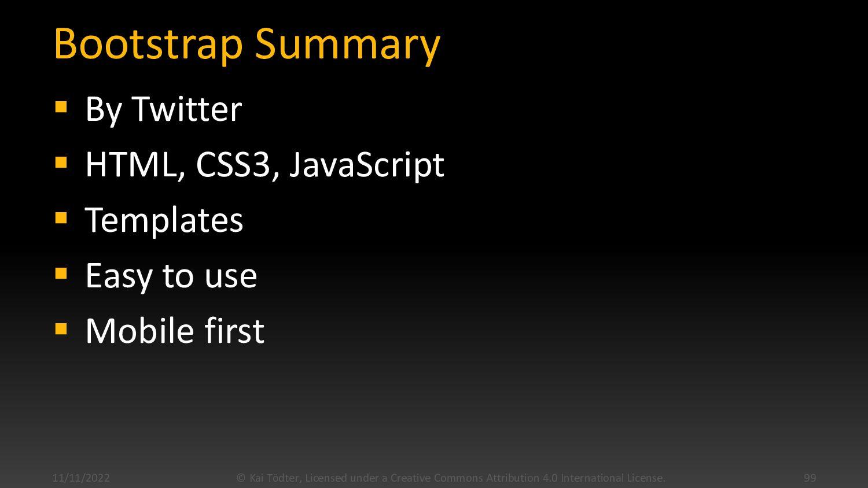 Bootstrap  www.getbootstrap.com 11/4/2020 © Ka...