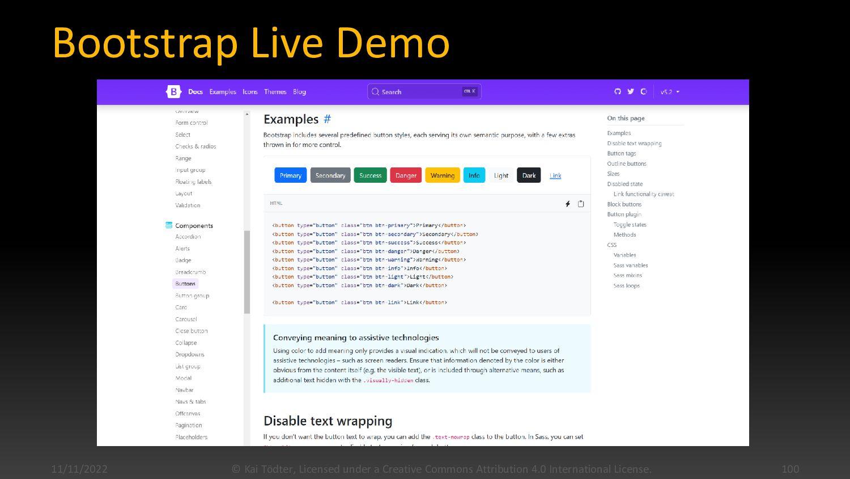 Bootstrap Summary  By Twitter  HTML, CSS3, Ja...