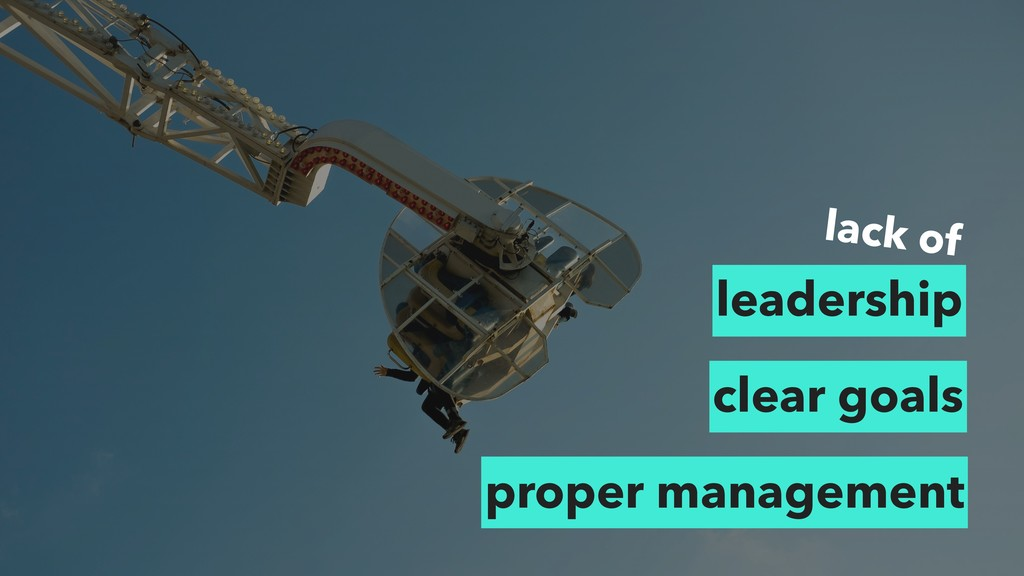 lack of leadership clear goals proper management