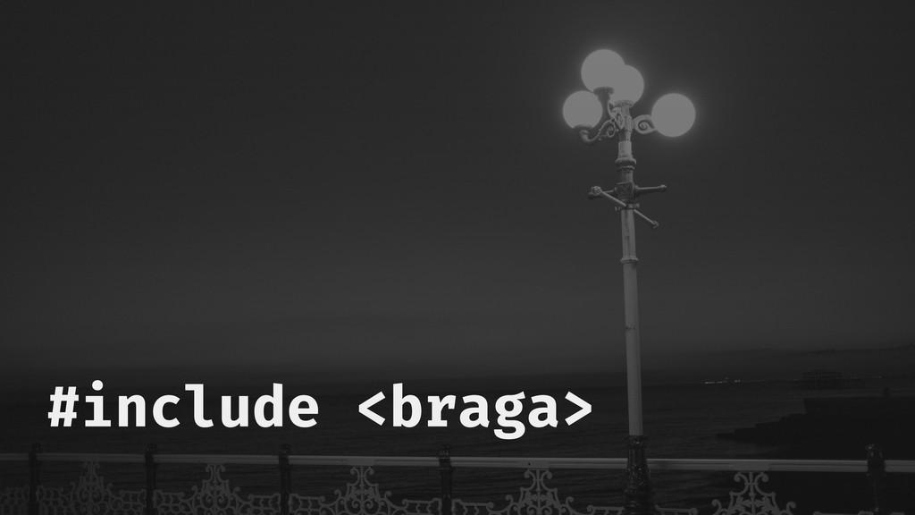 #include <braga>