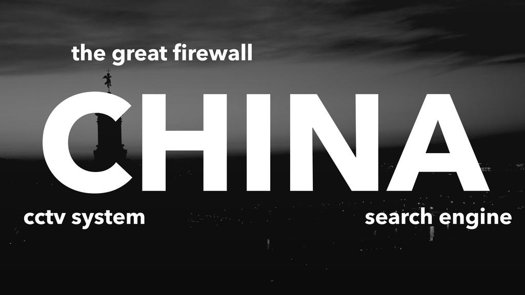 CHINA the great firewall cctv system search engi...