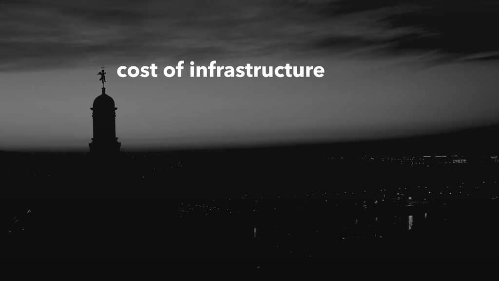 cost of infrastructure