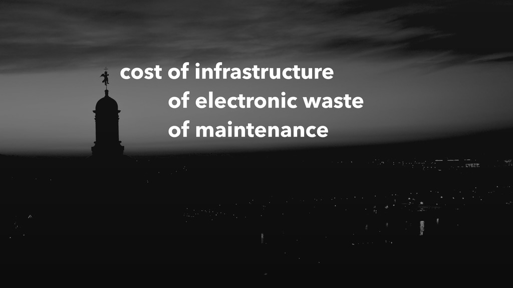 cost of infrastructure of electronic waste of m...