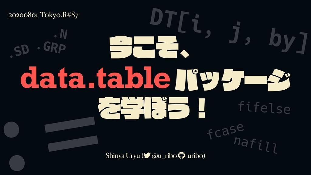 data.table Shinya Uryu ( @u_ribo uribo) 2020080...