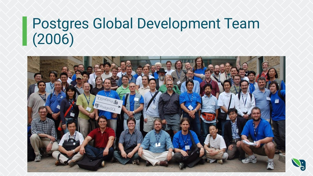 Postgres Global Development Team (2006)