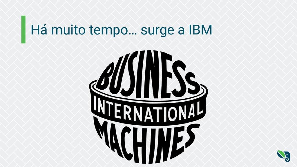 Há muito tempo… surge a IBM