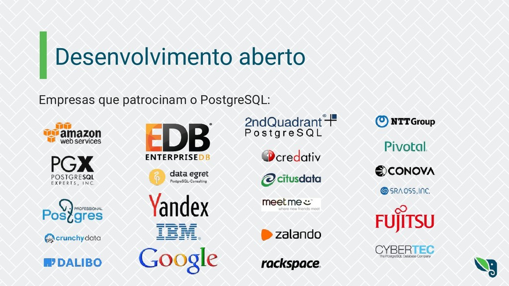 Desenvolvimento aberto Empresas que patrocinam ...