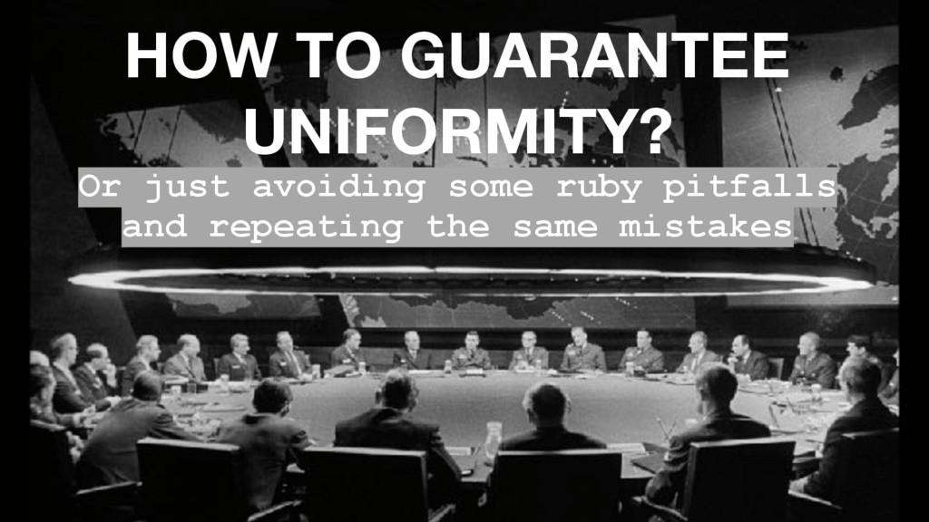 HOW TO GUARANTEE UNIFORMITY? Or just avoiding s...