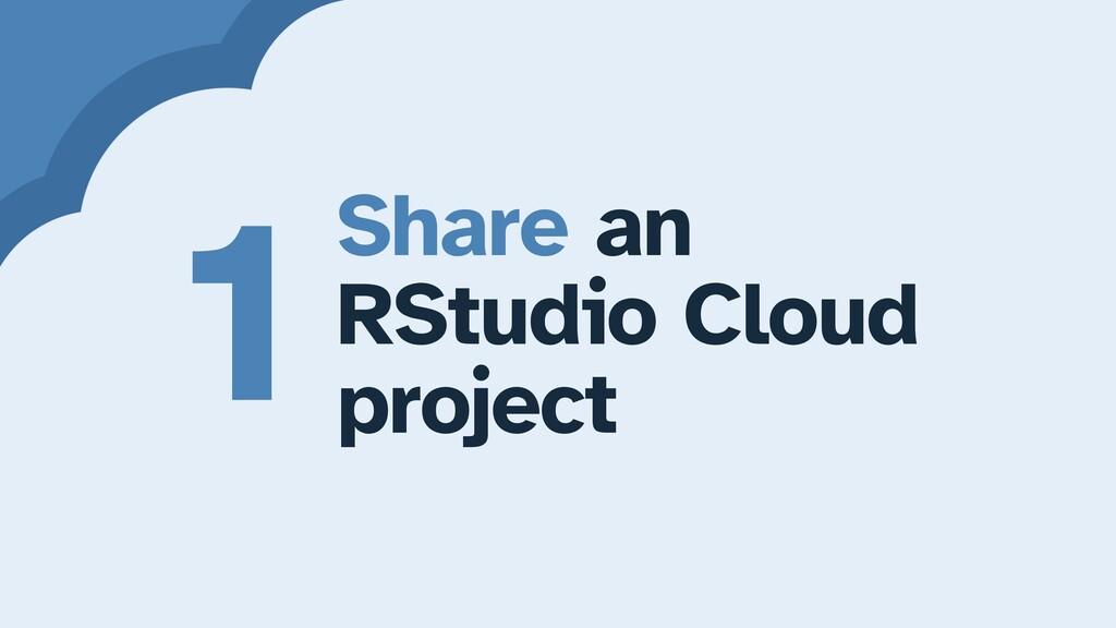 Share an   RStudio Cloud   project 1