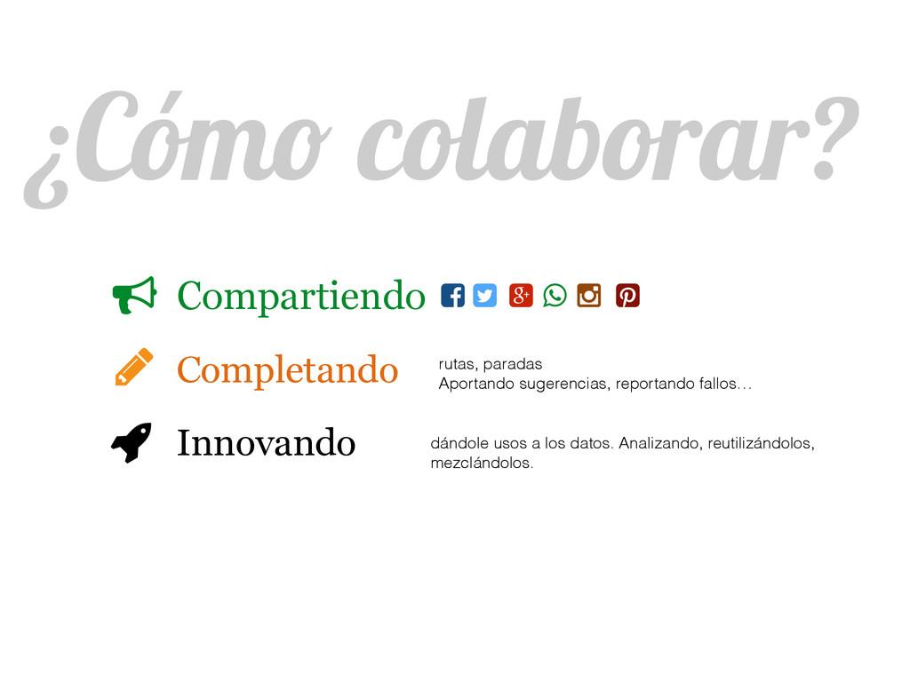 ¿Cómo colaborar? Compartiendo Completando Innov...